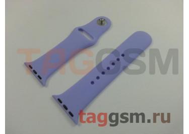 Ремешок для Apple Watch 38mm / 40mm (силикон, сиреневый), размер S / M