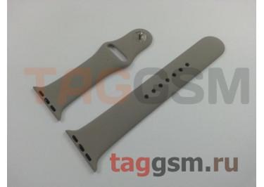 Ремешок для Apple Watch 38mm / 40mm (силикон, морская галька), размер M / L