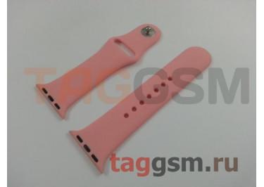 Ремешок для Apple Watch 38mm / 40mm (силикон, светло-розовый), размер S / M