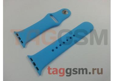 Ремешок для Apple Watch 38mm / 40mm (силикон, голубой), размер S / M