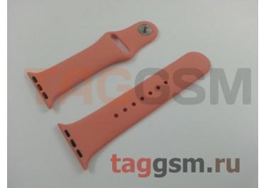 Ремешок для Apple Watch 38mm / 40mm (силикон, камелия), размер S / M