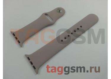Ремешок для Apple Watch 38mm / 40mm (силикон, лаванда), размер M / L