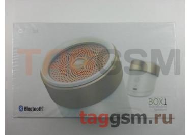 Колонка Xiaomi QCY Box1 True Wireless Speakers (BOX1) (white-gold)