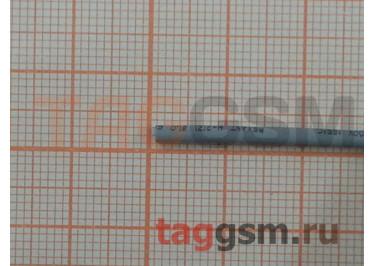 Термоусадочная трубка (1,0 мм  /  0,5 мм, длина 1м, серая) Rexant