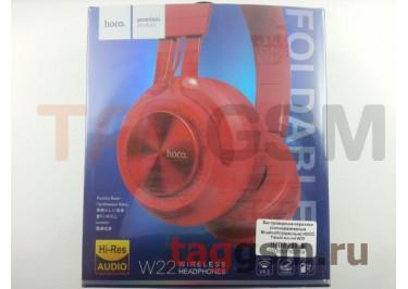 Беспроводные наушники (полноразмерные Bluetooth) (красные) HOCO Talent sound W22