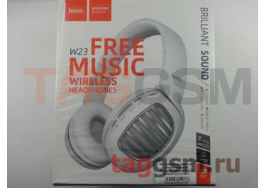 Беспроводные наушники (полноразмерные Bluetooth) (белые) HOCO Brilliant sound W23