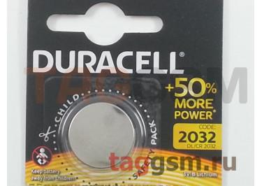 Спецэлемент CR2032-5BL (батарейка Li, 3V) Duracell