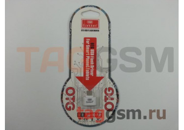 Переходник USB - micro USB, USB(f) (белый) Earldom ET-OT03