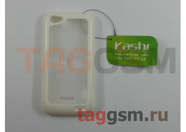 Задняя крышка KSH HTC One V силикон-пластик+защитная пленка белая