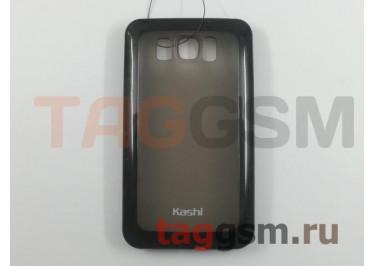 Задняя крышка KSH HTC HD2 силикон-пластик+защитная пленка черная