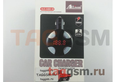 FM-модулятор ALS-801B (Bluetooth, 2 USB, AUX) Allison, в ассортименте