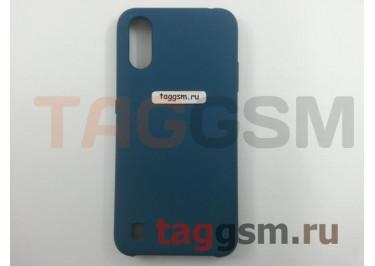 Задняя накладка для Samsung A01 / A015F Galaxy A01 (2019) (силикон, синий космос), ориг