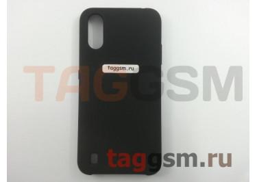 Задняя накладка для Samsung A01 / A015F Galaxy A01 (2019) (силикон, черная), ориг