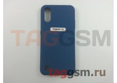 Задняя накладка для Samsung A01 / A015F Galaxy A01 (2019) (силикон, синяя), ориг