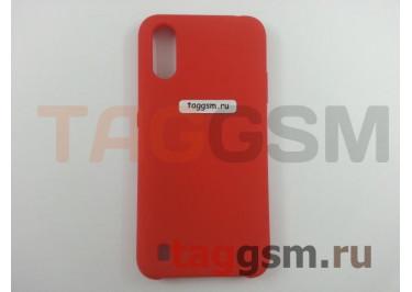 Задняя накладка для Samsung A01 / A015F Galaxy A01 (2019) (силикон, красная), ориг