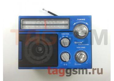 Колонка (RX-552DTch) (Bluetooth+USB+SD+MicroSD+FM+фонарь) (синяя)