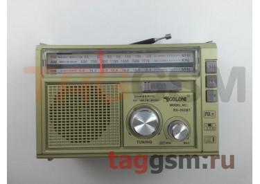 Колонка (RX-382BTch) (Bluetooth+USB+SD+MicroSD+FM+фонарь) (золото)