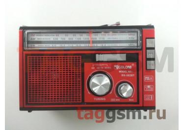Колонка (RX-382BTch) (Bluetooth+USB+SD+MicroSD+FM+фонарь) (красная)