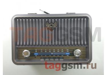 Колонка (MD-1908BTch) (Bluetooth+USB+MicroSD+FM) (серебро)