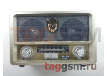 Колонка (M-108BT ch) (Bluetooth+USB+MicroSD+FM+пульт) (белая)
