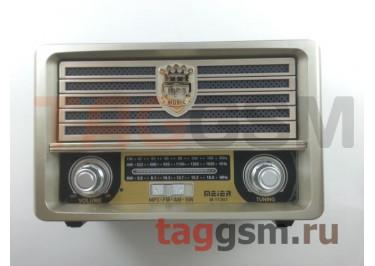 Колонка (M-113BT ch) (Bluetooth+USB+SD+MicroSD+FM) (серебро)