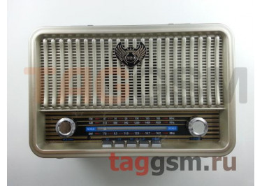 Колонка (MD-1908BTch) (Bluetooth+USB+MicroSD+FM) (золото)