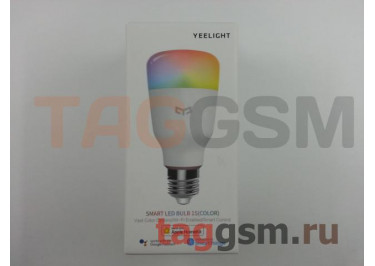 Умная лампочка с голосовым управлением (E27) (RGB) Xiaomi Yeelight Smart LED Bulb 1S Voice Control (multicolored) (YLDP13YL) (white)