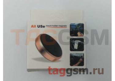 Автомобильный держатель (металл, на магните) (черный)