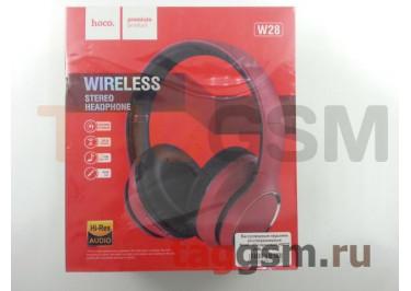 Беспроводные наушники (полноразмерные Bluetooth) (красные) HOCO W28 Journey