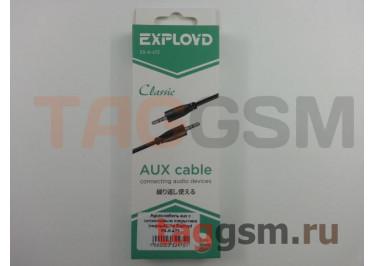 Аудио-кабель aux с силиконовым покрытием (черный), 1м Exployd EX-K-472