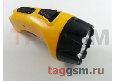 Светодиодный фонарь 4 LED SmartBuy (с прямой зарядкой, аккумуляторный), жёлтый