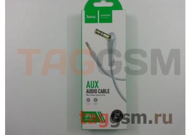 Аудио-кабель aux угловой с силиконовым покрытием серый, 2м HOCO UPA14