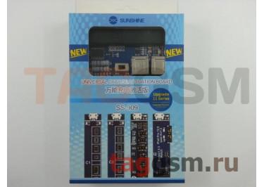 Плата для зарядки акб iPhone 4-11Pro Max / Apple Watch Series 1-3 / iPad / OPPO / VIVO / Xiaomi / Huawei / Meizu / Samsung + провод питания + USB (SS-909)