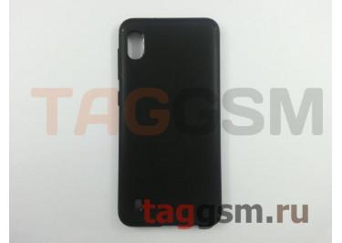 Задняя накладка для Samsung A10 / A105 Galaxy A10 (2019) (силикон, матовая, черная (Pixel)) Faison