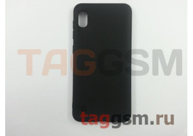 Задняя накладка для Samsung A10 / A105 Galaxy A10 (2019) (силикон, матовая, черная (Matte)) Faison
