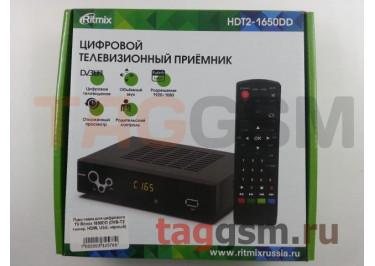 Приставка для цифрового TV Ritmix 1650DD (DVB-T2 тюнер, HDMI, USB, чёрный)