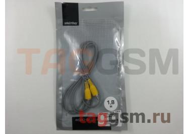Переходник 1xRCA - 1xRCA (КА-111) (черный) SmartBuy 1,8м
