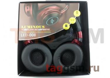Беспроводные наушники (полноразмерные Bluetooth) (красный) LED-008
