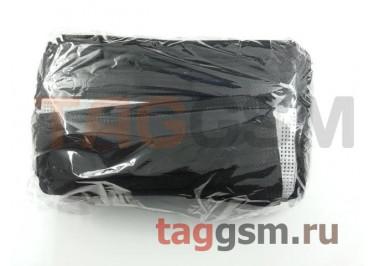 Маска одноразовая (трехслойная, с фиксатором для носа, черная) (50шт)