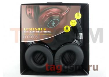 Беспроводные наушники (полноразмерные Bluetooth) (серебро) LED-008