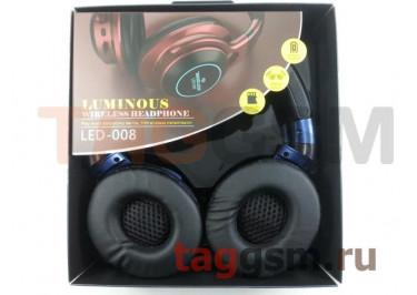 Беспроводные наушники (полноразмерные Bluetooth) (синий) LED-008