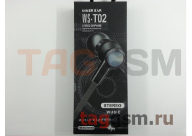 Наушники внутриканальные WS-T02 + микрофон (красные)