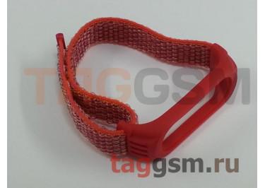 Браслет для Xiaomi Mi Band 3 / 4 (Nylon) (красный)