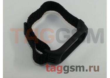 Браслет для Xiaomi Mi Band 3 / 4 (Nylon) (черный)