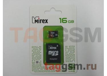Micro SD 16Gb Mirex Class 10 с адаптером SD
