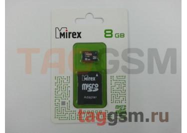 Micro SD 8Gb Mirex Class 10 с адаптером SD