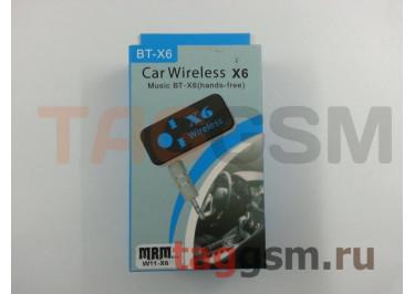 Автомобильный аудио ресивер Bluetooth X6 (AUX / Micro USB) (черный)