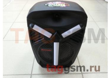 Колонка (OM-803ch) (Bluetooth+USB+MicroSD+FM+AUX+MIC+REC+LED+пульт) (черная)