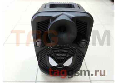Колонка (OM-502) (Bluetooth+USB+MicroSD+FM+AUX+MIC+LED+пульт) (черная)