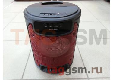 Колонка (ZQS-6113) (Bluetooth+USB+MicroSD+FM+AUX+MIC+дисплей) (красная)